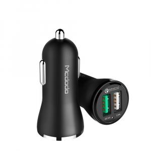 MCDODO 30W QC3.0 + 2.4AMP DUAL USB 12/24V CAR CHARGER