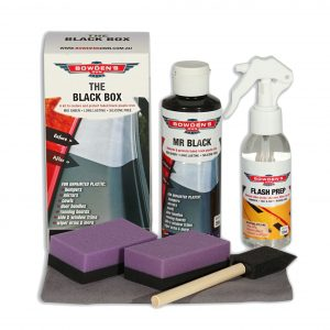 Bowdens Own THE BLACK BOX A KIT FOR RESTORING AND PROTECTING BLACK PLASTIC TRIM