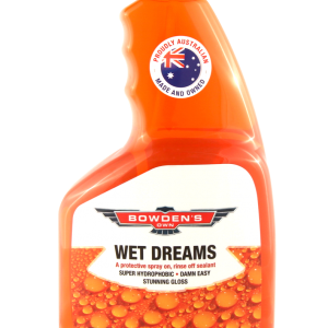 BOWDENS OWN WET DREAMS A PROTECTIVE SPRAY ON, RINSE OFF SEALANT