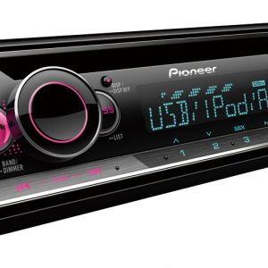 Pioneer DEH-S2250UI Car Stereo with Smartphone support, USB, RCA Pre-outs (2) & Aux-In.