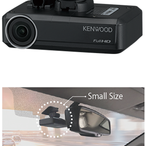 DRV-N520  Dash Camera with Simplified ADAS Solution  2-way communication with compatible KENWOOD high-end models.