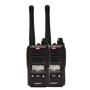 TX677TP 2 Watt UHF CB Handheld radio - Twin pack 2018 model
